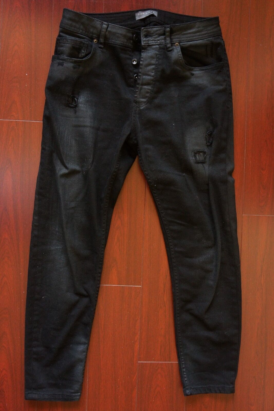ffb27717 купить ZARA MAN BIKER JACKET, с доставкой Zara Men Man Washed Black  Destroyed Denim Jeans