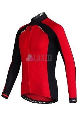 Maillot de Ciclismo Manga Larga Funkier Huelga Verano Rojo/Negro XL Deportivo