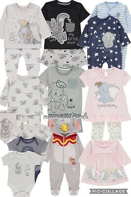 Brand New Baby's Disney DUMBO Clothing Jogger Set Baby Grow 10 To Choose From - Disney Baby Cloths