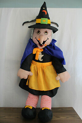 Vintage Halloween Life Size Witch- Witch Plush Doll- Outdoor Decor- Porch Door