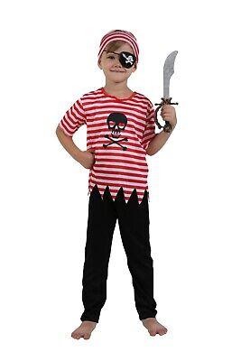 Boys Pirate Captain Hook Fancy Dress Halloween Kids Child Costume Cosplay - Boys Halloween Fancy Dress