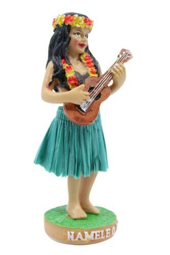 "Hawaiian Hula Lady w/ Ukulele Mini Dashboard Doll - Na Mele, 4"" Doll for Car"