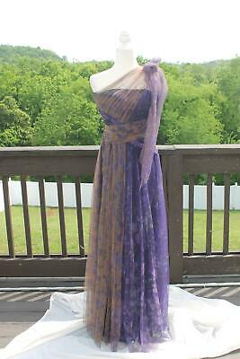 Marchesa Notte Nordstrom NEW Women's Size 4 Cute Purple A-Line Maxi Dress NWT