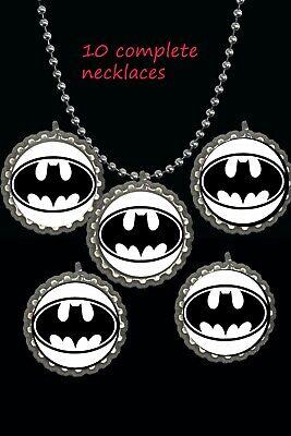 Batgirl Party Supplies (Batman Batgirl 10 necklaces necklace loot bag party favors birthday )