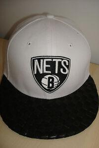 NEW ERA 59 FIFTY RETRO BROOKLYN NETS BASKETBALL CAP HAT WHITE SIZE 7 MEDIUM
