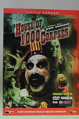 HOUSE OF 1000 CORPSES Full Page AD magazine clipping Rob Zombie RAINN WILSON