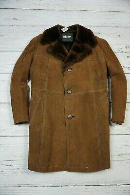 KITON NAPOLI LEDER LEATHER JACKET MEN'S SHEEPSKIN COAT Shearling WINTER Size 54