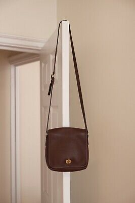 Vintage Coach Shoulder Bag Brown Leather