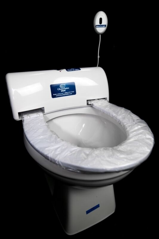 automatic toilet seat cover system