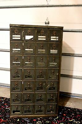 Vintage U S  Post Office Boxes  28 Boxes Combination Locks Intact  2