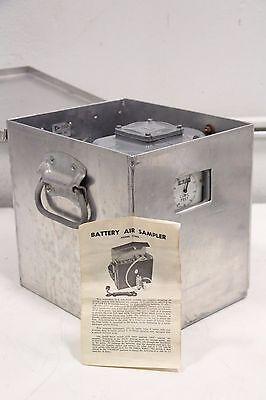 Gelman Rockwell Instrument Portable Battery Air Sampler 15003