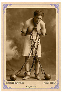 HARRY HOUDINI Master Showman Magician Photograph A+ Cabinet Card