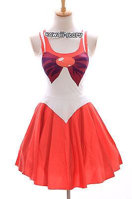 SK-04 Gr. S-M Sailor Moon Mars rot red Kleid dress Cosplay Manga Japan Anime