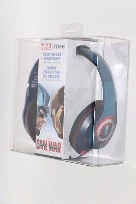 Ihome Ekids Marvel Civil War Captain America Vs Iron Man Headphones W  Mic New