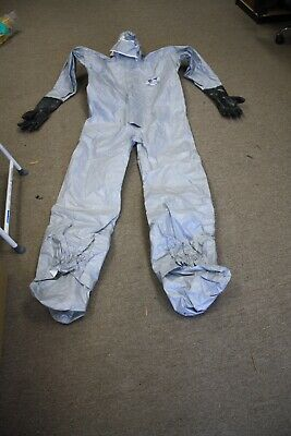 Prochem Tychem Hazmat Suit With Hood Vinyl Gloves Feet Size 2 X