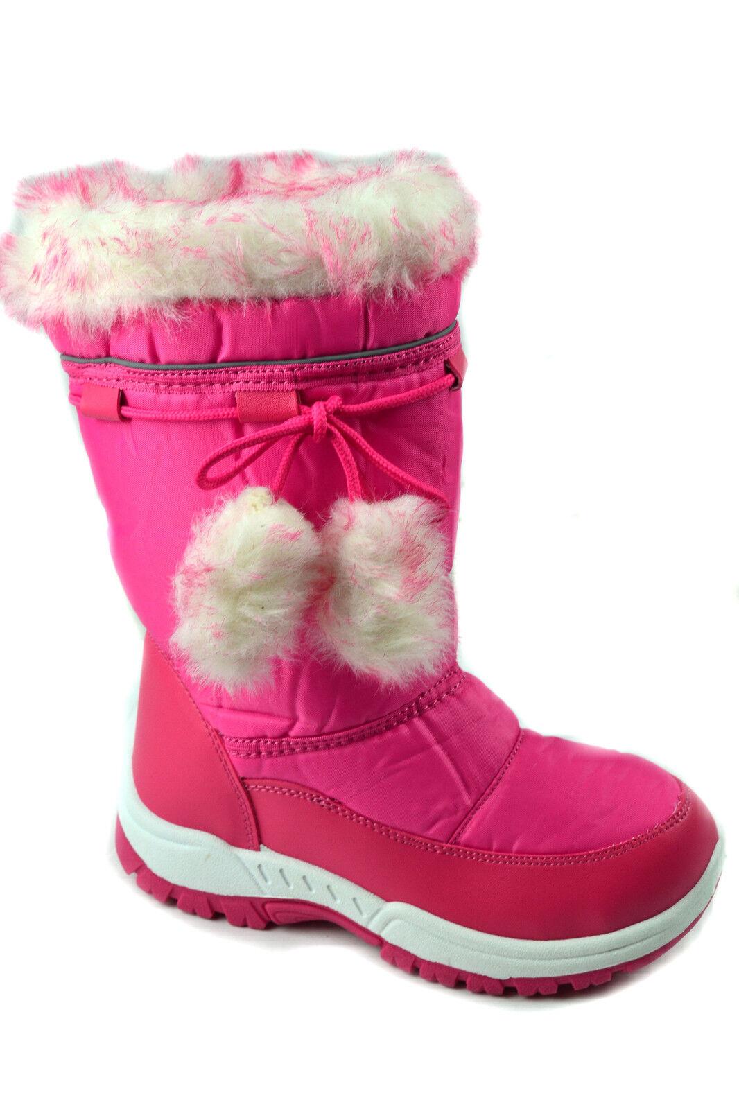 GIRLS WINTER KIDS FUR SNOW BOYS MUCKER WATERPROOF WELLINGTON WELLIES BOOTS SHOES