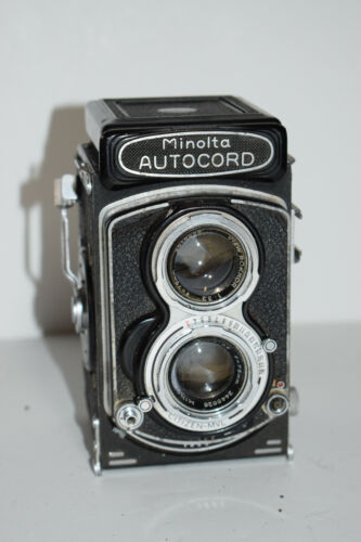 Minolta Autocord Export TLR Camera 75mm 3.5 Seikosha MX Shutter for Repair