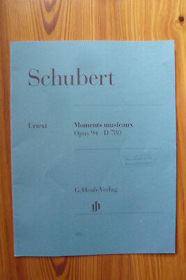 Franz Schubert. Moments musicaux, opus 94 D 780 - Klavier   - Mängelexemplar