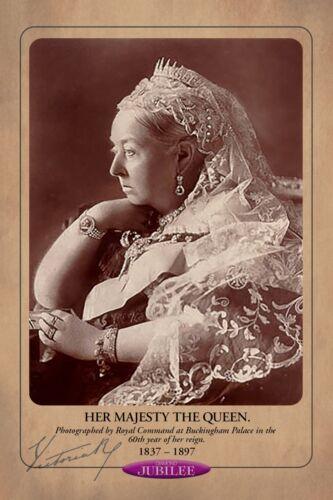 QUEEN VICTORIA 1897 Diamond Jubilee Commemorative Photograph Cabinet Card RP