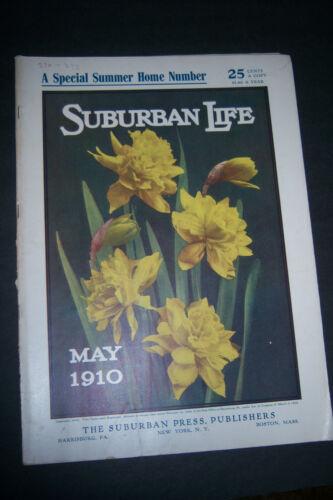 SUBURBAN LIFE MAGAZINE May 1910 NY NJ Real Estate Build a Country Bungalow