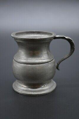 19th Century English antique pewter half gill cup - Harry Mason Ltd