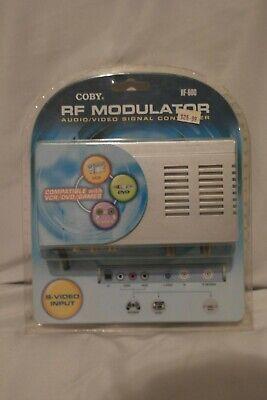 COBY RF MODULATOR AUDIO/VIDEO SIGNAL CONVERTER RF-600 NEW Rf Modulator-audio