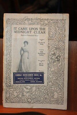 1909 It Came Upon a Midnight Clear Illustrated Pantomimed Hymn Music Book