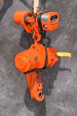 Jet 1qs-3-20-460 1 Ton Electric Hoist With Trolley 1 Et-3 2200lb 3ph 460v