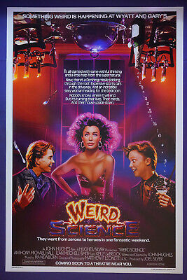 Weird Science Kelly LeBrock Anthony Hall Ilan Smith Movie Poster 24X36 NEW  (Kelly Movie Poster)