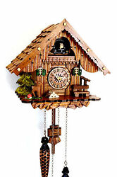 cuckoo clock black forest quartz german wood batterie clock handmade new