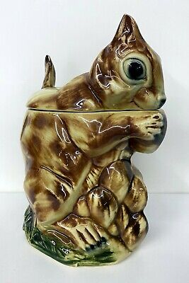 Vintage McCoy Pottery Chipmunk Squirrel Cookie Jar