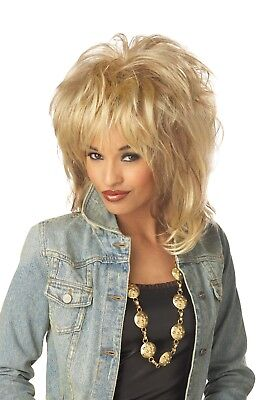 Adult 80s Blonde Rockin' Soul Tina Turner Costume Wig  - Tina Turner Costumes Adults