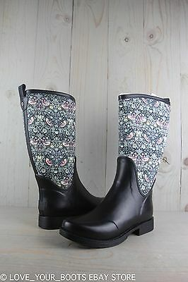 UGG REIGNFALL LIBERTY TALL BLUSH  LIBERTY FLORAL PRINT FABRIC RAINBOOTS US 8 NIB for sale  Ventura