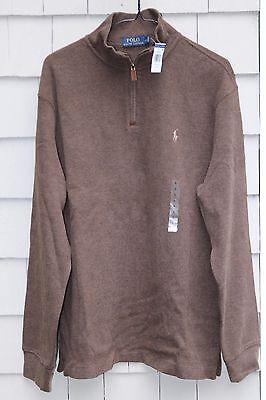 NEW-$99 Polo Ralph Lauren Men's 1/2 Zip Cotton Pullover Size S
