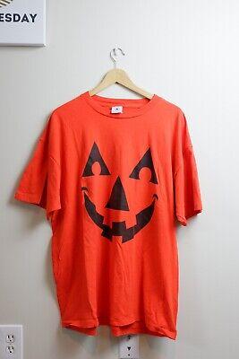 Vintage Halloween Jack O'Lantern Pumpkin T-Shirt Costume 2XL Single Stitch 80s - 80's Vintage Halloween Costumes