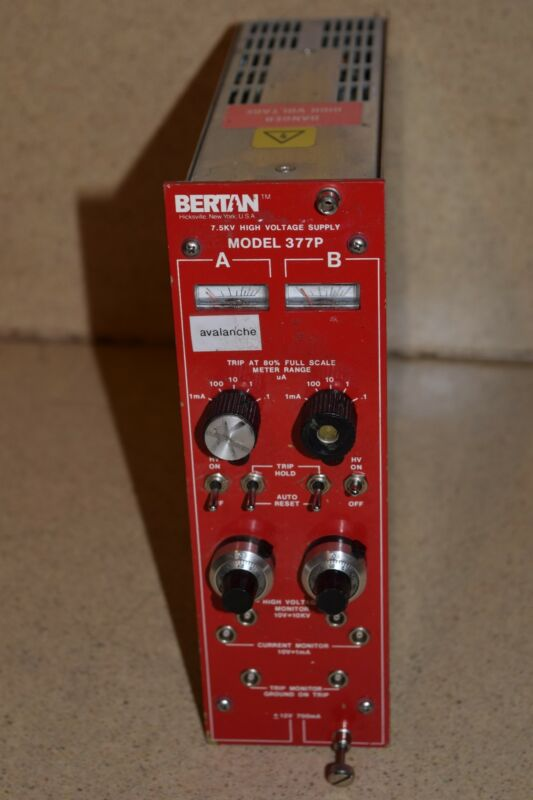 BERTAN MODEL 377P 7.5KV HIGH VOLTAGE SUPPLY NIM BIN  (TP124)