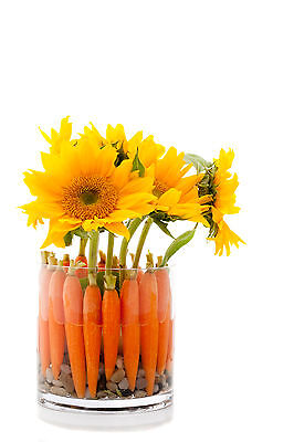 Simply but effective, use carrots instead of flowers