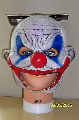 ADULT CLOONEY DEMENTED EVIL CLOWN CHINLESS FULL LATEX MASK COSTUME TB27516  - Demented Clown Costume