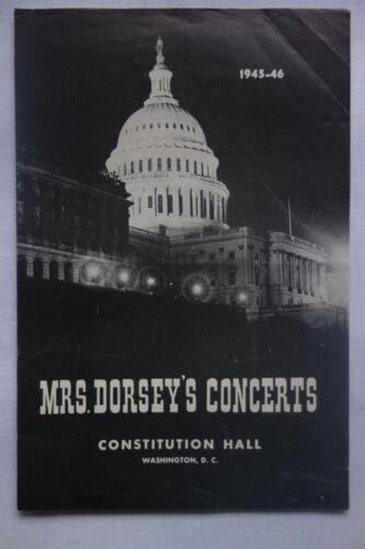 RARE 1945 Fritz Kreisler Music Concert Programme Constitution Hall Washington DC