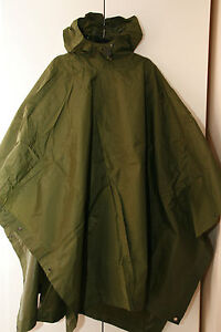 BRITISH ARMY ISSUE OLIVE GREEN WATERPROOF NYLON PONCHO GRADE 1