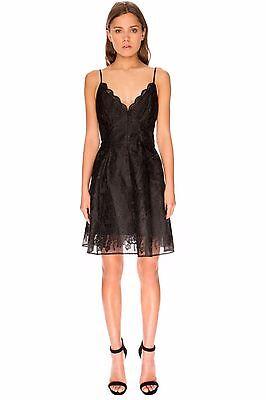 KEEPSAKE the Label Black Lace Sundream Fit Flare A-Line Skirt LBD Dress XXS 0 00