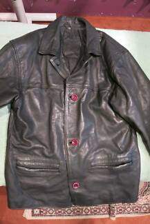 Damla mens Trendy Casual Black Leather Jacket Australian Made