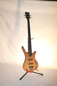 Warwick Pro Series Corvette Natural Satin Bubinga 4 String Fretless Passive Bass