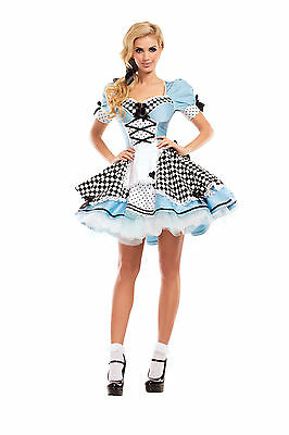 Alice In Wonderland Costume Party (Sexy Adult Halloween Party King Women's Alice in Wonderland Honey)