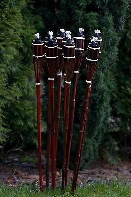 21 Stk Bambusfackeln Gartenfackel Bambus Garten Fackel Deko 90cm bordeauxrot (2)