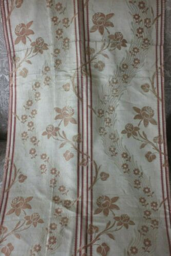"Rare French 18thC Antique Brocaded Silk Home Yardage Fabric~L-66""X W-20"""