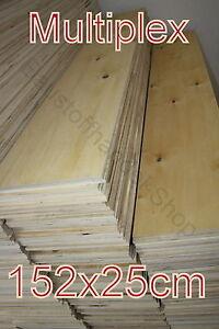 Sperrholzplatte 152x25cm6mm 6,94€/m² Birke Multiplexplatte 2.Wahl Bastelholz