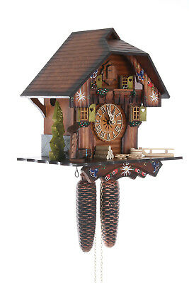 German Cuckoo Clock 8-day-movement Chalet-Style 30cm by Hekas Chalet Style Cuckoo Clock