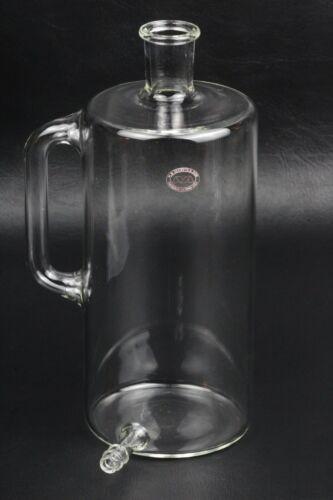 H.S. Martin 500mL Glass Reservoir Cylinder w/ Handle & Bottom Hose Outlet