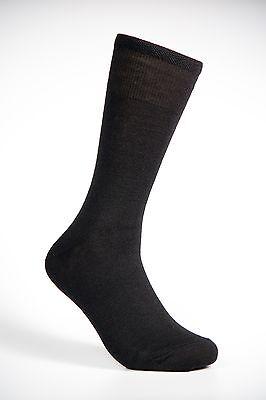 Luxury Men Merino Wool Socks Black Color !!! 10 PAIR PACK !!!